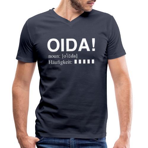OIDA T-Shirt - Männer Bio-T-Shirt mit V-Ausschnitt von Stanley & Stella