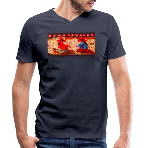 Dos Paisanitas tejiendo telar inca - Männer Bio-T-Shirt mit V-Ausschnitt von Stanley & Stella
