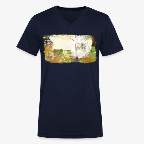 Let the Adventure Begin - Männer Bio-T-Shirt mit V-Ausschnitt von Stanley & Stella