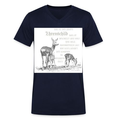 EHRENSCHILDSAFE1Sh - Männer Bio-T-Shirt mit V-Ausschnitt von Stanley & Stella