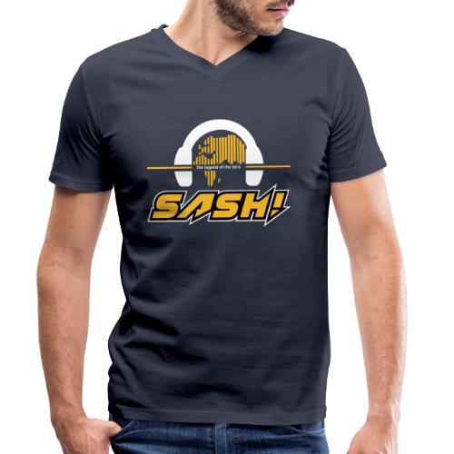 SASH! Logo 2020 Headfone - Men's Organic V-Neck T-Shirt by Stanley & Stella
