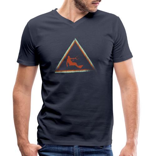 Wir kiten im Dreieck - Männer Bio-T-Shirt mit V-Ausschnitt von Stanley & Stella
