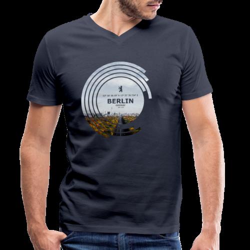 Berlin City Skyline Geometrische Form Kreis - Männer Bio-T-Shirt mit V-Ausschnitt von Stanley & Stella