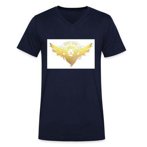 GREEN KOMM Gold - Männer Bio-T-Shirt mit V-Ausschnitt von Stanley & Stella