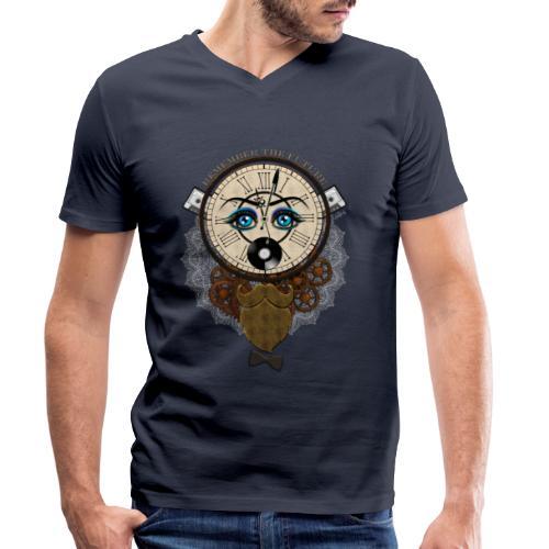 Remember the future : souviens-toi du futur - Or - T-shirt bio col V Stanley & Stella Homme