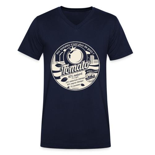 europabio tomato blanc - T-shirt bio col V Stanley & Stella Homme