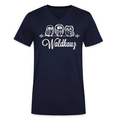 waldkauz_neu - Männer Bio-T-Shirt mit V-Ausschnitt von Stanley & Stella
