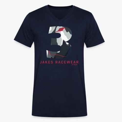 JakesCamo2018__HIGH_PNG - Økologisk Stanley & Stella T-shirt med V-udskæring til herrer
