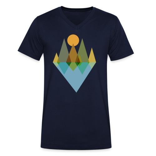 Bäume am See - Männer Bio-T-Shirt mit V-Ausschnitt von Stanley & Stella