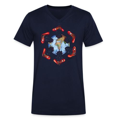 Égoïsme de l'être humain - T-shirt bio col V Stanley & Stella Homme