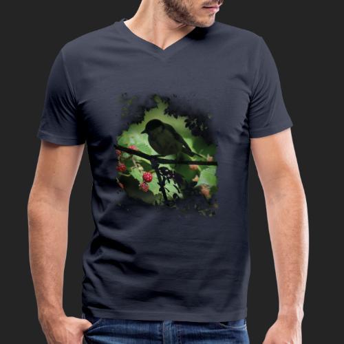 Petit oiseau dans la forêt - T-shirt bio col V Stanley & Stella Homme