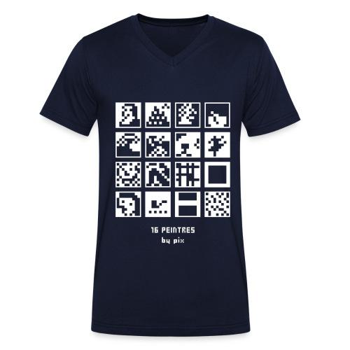 16 peintres - T-shirt bio col V Stanley & Stella Homme