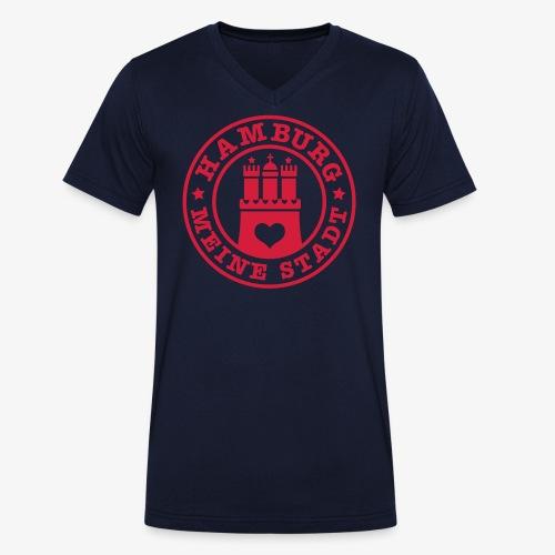 HAMBURG MEINE STADT Wappen 1c - Männer Bio-T-Shirt mit V-Ausschnitt von Stanley & Stella