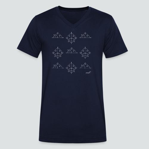 FischHaus 3 png - Männer Bio-T-Shirt mit V-Ausschnitt von Stanley & Stella