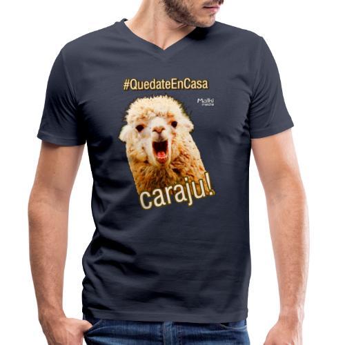 Quedate En Casa Caraju - Camiseta ecológica hombre con cuello de pico de Stanley & Stella