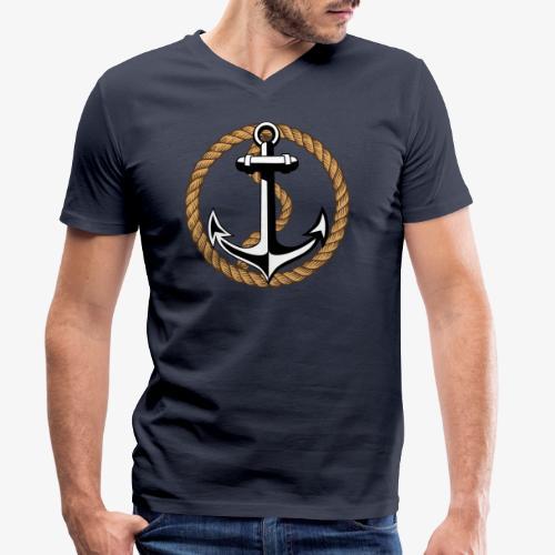 Anker Seil 65 - Männer Bio-T-Shirt mit V-Ausschnitt von Stanley & Stella