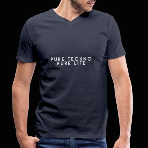 Pure Techno Pure Life White - Männer Bio-T-Shirt mit V-Ausschnitt von Stanley & Stella