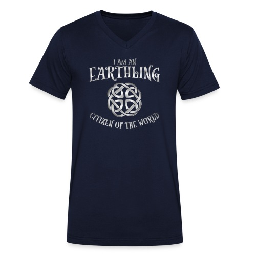 EARTHLING SILVER design - Ekologisk T-shirt med V-ringning herr från Stanley & Stella