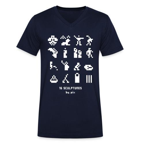 16 sculptures - T-shirt bio col V Stanley & Stella Homme