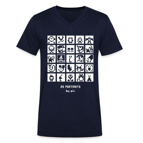 25 portraits - T-shirt bio col V Stanley & Stella Homme
