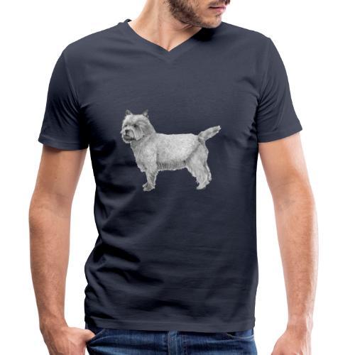 cairn terrier - Økologisk Stanley & Stella T-shirt med V-udskæring til herrer