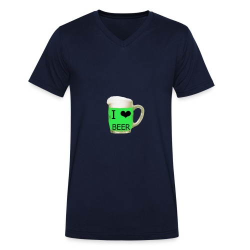 ich liebe Bier gruen - Männer Bio-T-Shirt mit V-Ausschnitt von Stanley & Stella