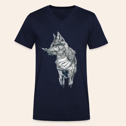 Corona Wolf - Männer Bio-T-Shirt mit V-Ausschnitt von Stanley & Stella