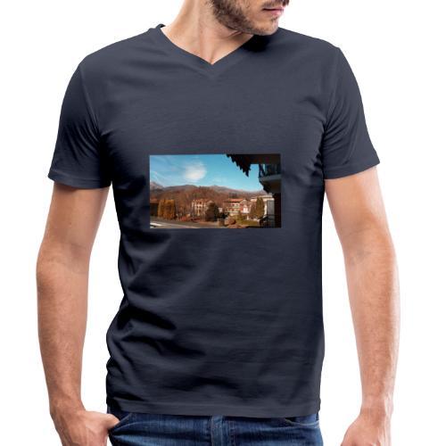 Paese - T-shirt ecologica da uomo con scollo a V di Stanley & Stella