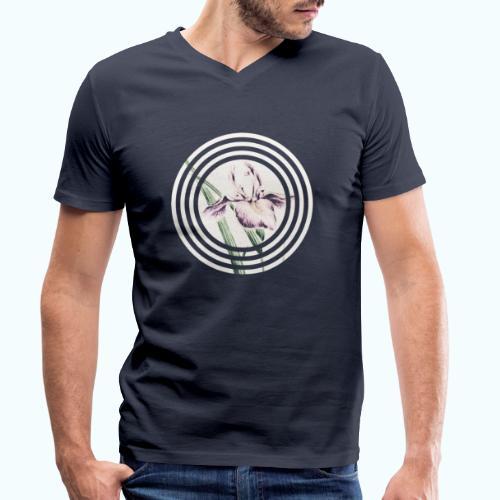 Lilies watercolor - Men's Organic V-Neck T-Shirt by Stanley & Stella