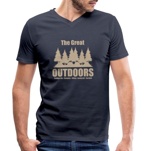 The great outdoors - Clothes for outdoor life - Men's Organic V-Neck T-Shirt by Stanley & Stella