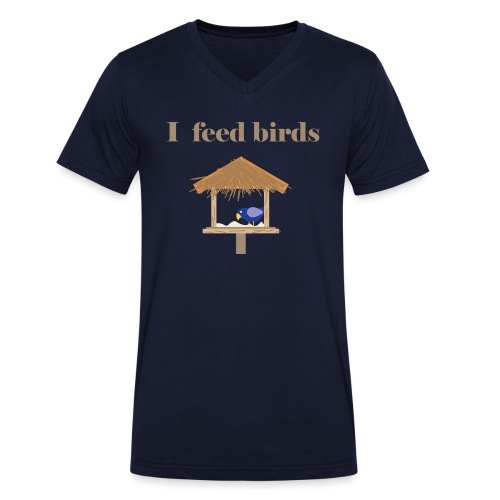 I feed birds - Stanley & Stellan miesten luomupikeepaita