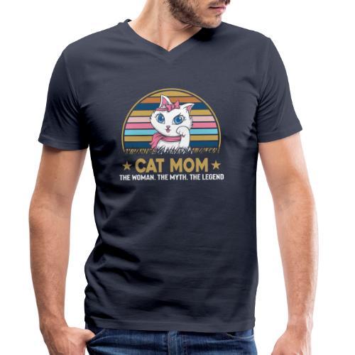CAT MOM - T-shirt bio col V Stanley & Stella Homme