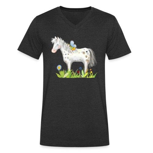 Fee. Das Pferd und die kleine Reiterin. - Männer Bio-T-Shirt mit V-Ausschnitt von Stanley & Stella