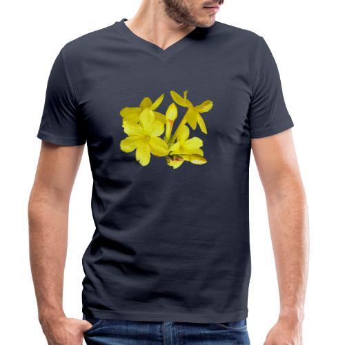 Winterjasmin Jasmin gelb Duft Zierpflanze Strauch - Männer Bio-T-Shirt mit V-Ausschnitt von Stanley & Stella