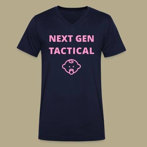 Tactical Baby Girl - Mannen bio T-shirt met V-hals van Stanley & Stella