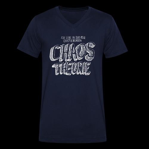 Chaostheorie (weiss) - Männer Bio-T-Shirt mit V-Ausschnitt von Stanley & Stella