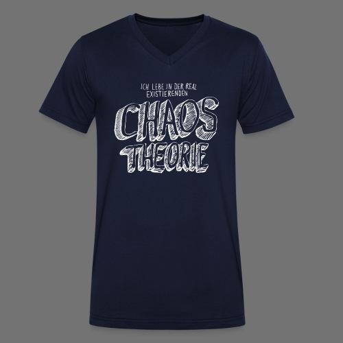 Chaos Theory (valkoinen) - Stanley & Stellan miesten luomupikeepaita