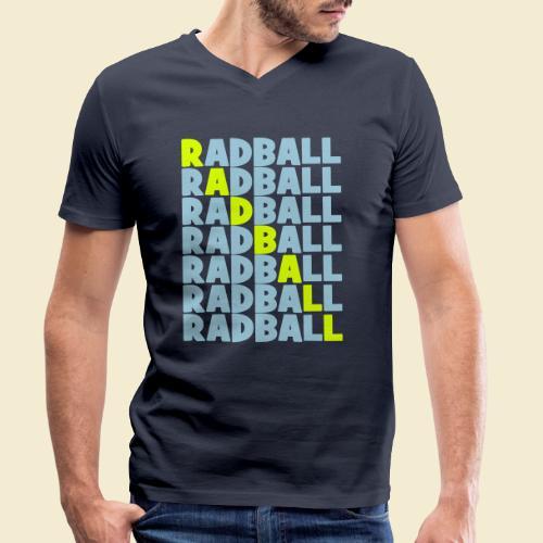 Radball   Diagonal - Männer Bio-T-Shirt mit V-Ausschnitt von Stanley & Stella
