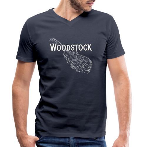 Woodstock Event Gitarre Shirt Geschenk - Männer Bio-T-Shirt mit V-Ausschnitt von Stanley & Stella