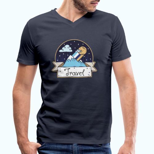 Travel - Men's Organic V-Neck T-Shirt by Stanley & Stella