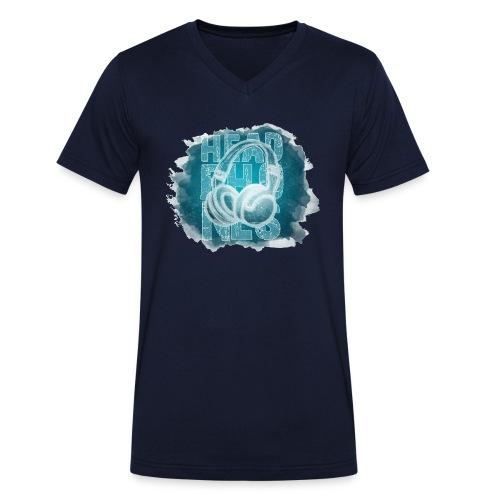 headphones 2 - Camiseta ecológica hombre con cuello de pico de Stanley & Stella