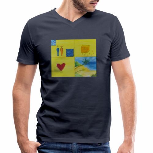 Viererwunsch - Männer Bio-T-Shirt mit V-Ausschnitt von Stanley & Stella