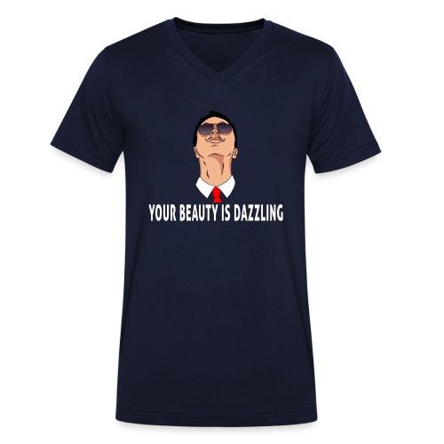 your beauty is dazzling - Männer Bio-T-Shirt mit V-Ausschnitt von Stanley & Stella