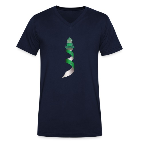 Leuchtturm - Männer Bio-T-Shirt mit V-Ausschnitt von Stanley & Stella