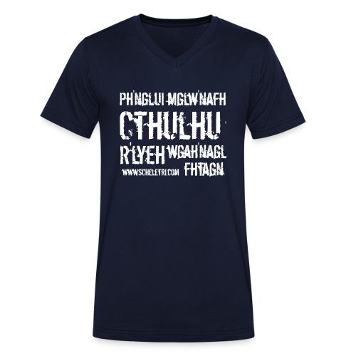 Cthulhu - T-shirt ecologica da uomo con scollo a V di Stanley & Stella