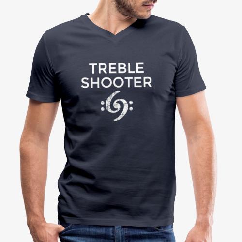 Treble Shooter Bass Design (White) - Männer Bio-T-Shirt mit V-Ausschnitt von Stanley & Stella