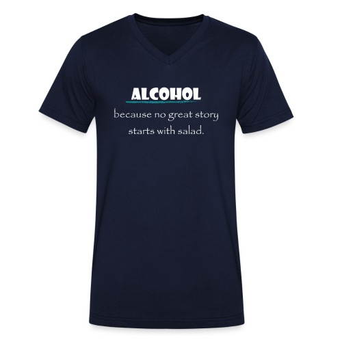 alcohol salad - Männer Bio-T-Shirt mit V-Ausschnitt von Stanley & Stella