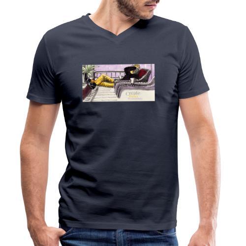 Work Relax Coffee Shop_St - Ekologisk T-shirt med V-ringning herr från Stanley & Stella