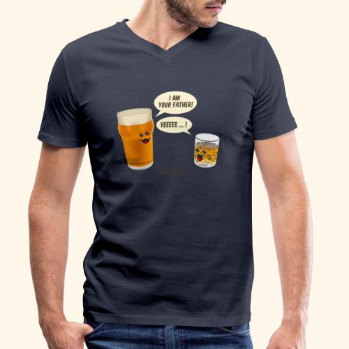 Bier & Whisky Spruch I am your father - Männer Bio-T-Shirt mit V-Ausschnitt von Stanley & Stella