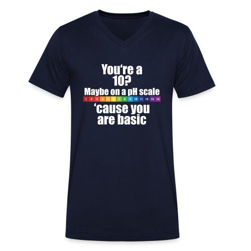 Chemistry Joke pH-Skala - Männer Bio-T-Shirt mit V-Ausschnitt von Stanley & Stella